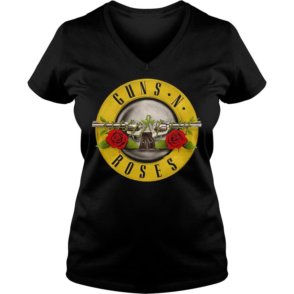 Guns N Roses Classic Bullet Logo V Neck
