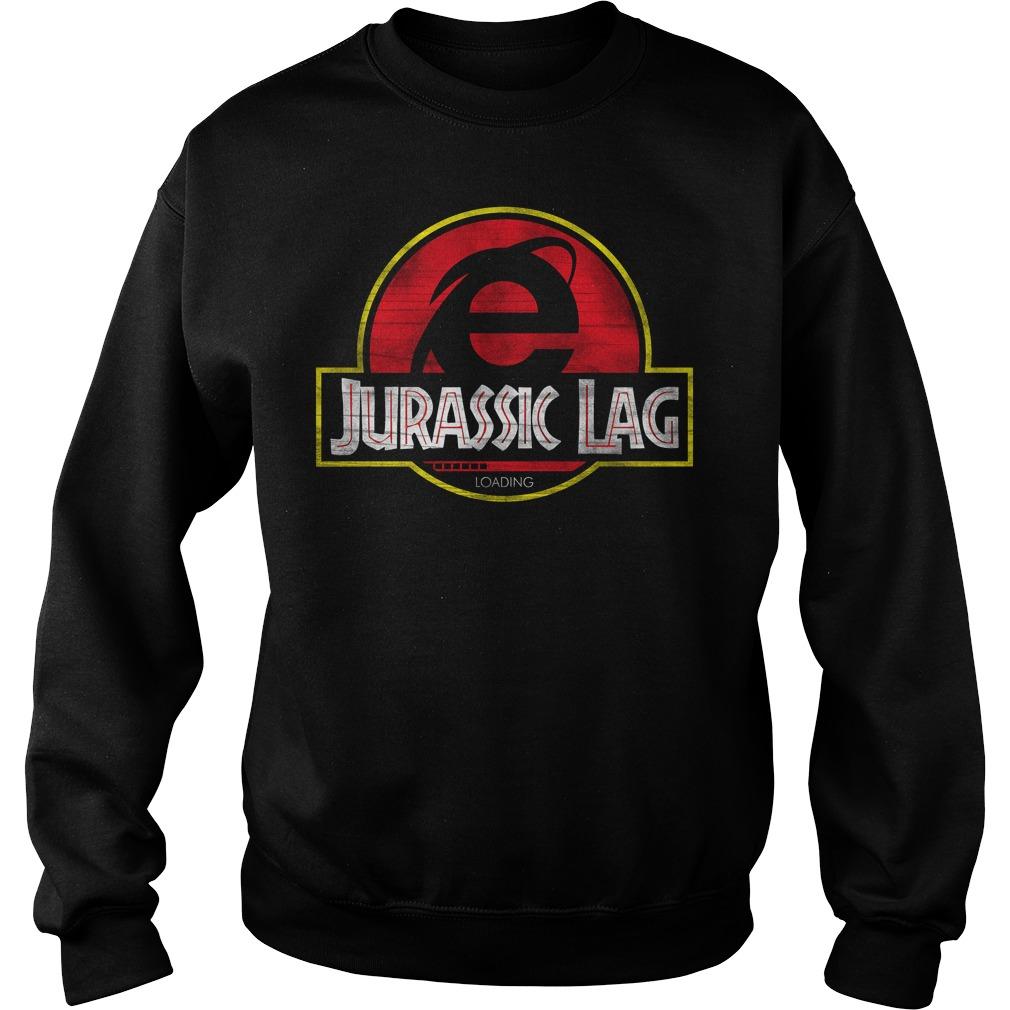 Internet Explorer Jurassic Lag Loading Sweater