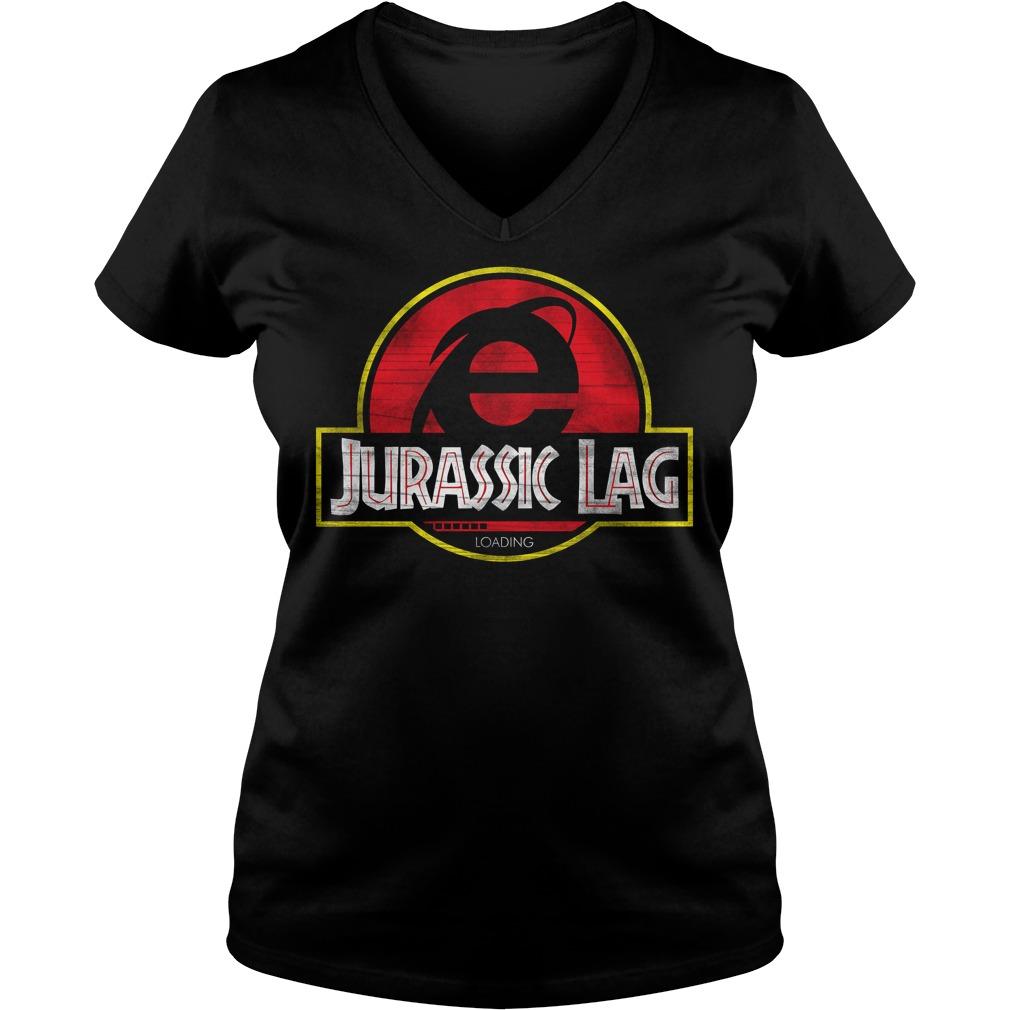 Internet Explorer Jurassic Lag Loading V Neck