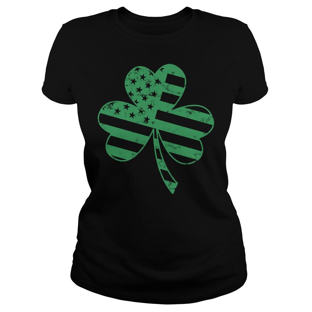 Irish American Flag Shamrock Shirt 3