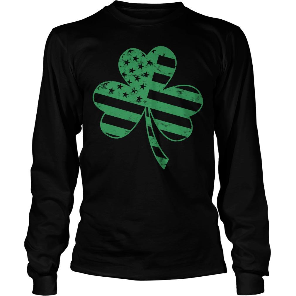 Irish American Flag Shamrock Shirt 4