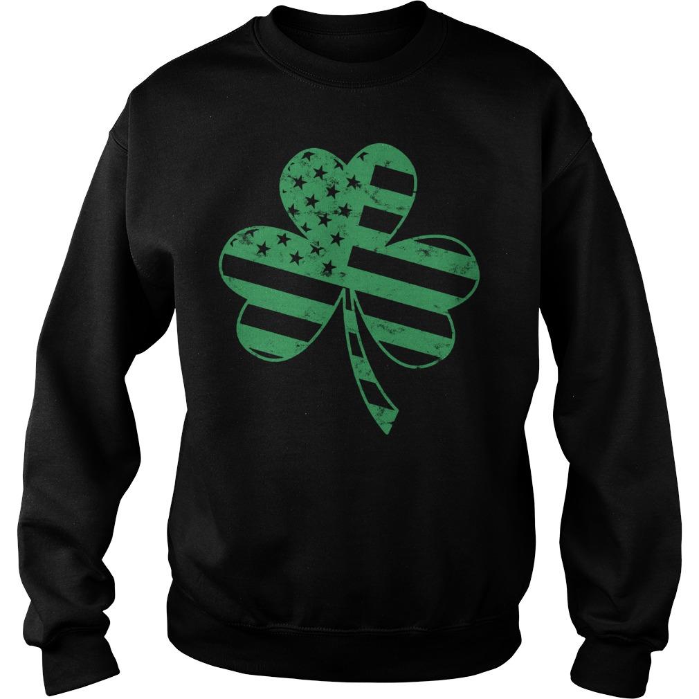 Irish American Flag Shamrock Shirt 5