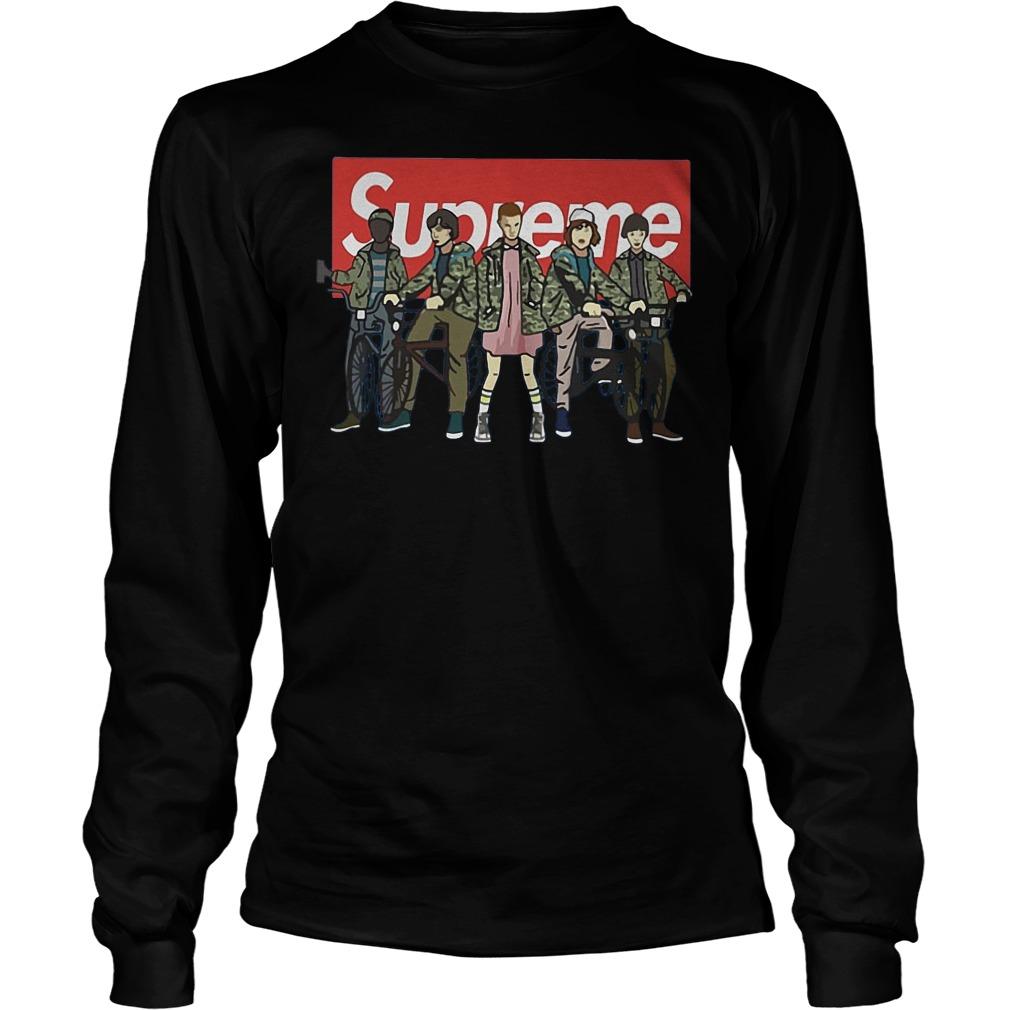 Official Supreme Stranger Things Shirt, Hoodie, Sweater, Longsleeve T-Shirt 4