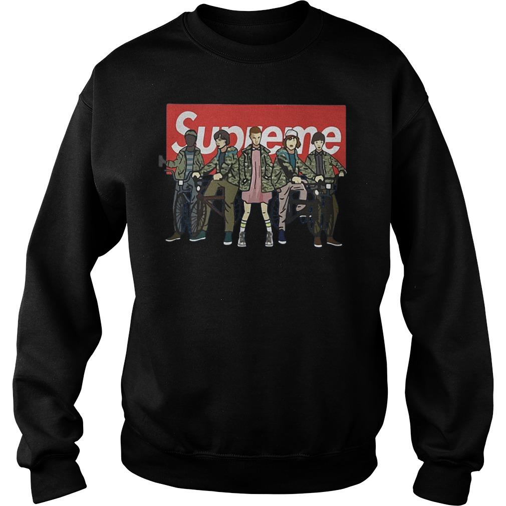 Official Supreme Stranger Things Shirt, Hoodie, Sweater, Longsleeve T-Shirt 5