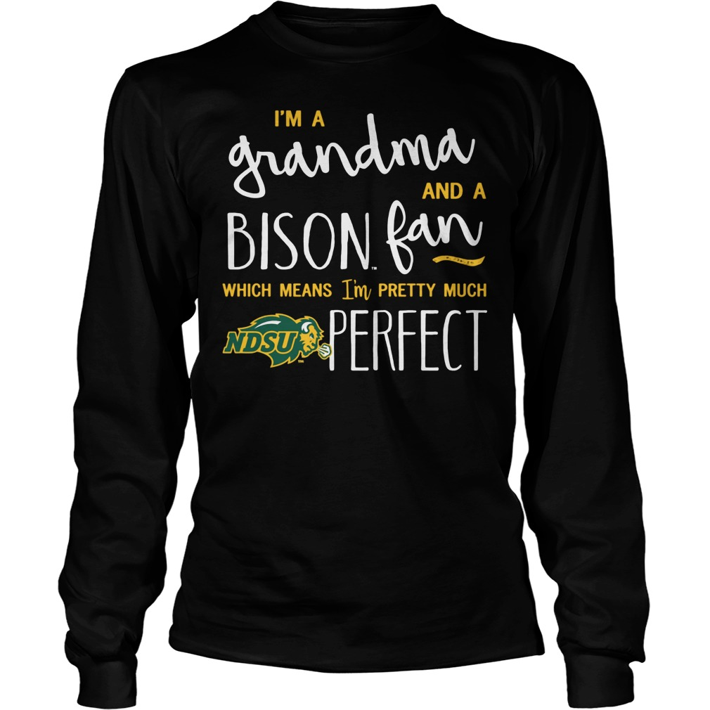 Perfect Grandma North Dakota State Bison Fan Longsleeve