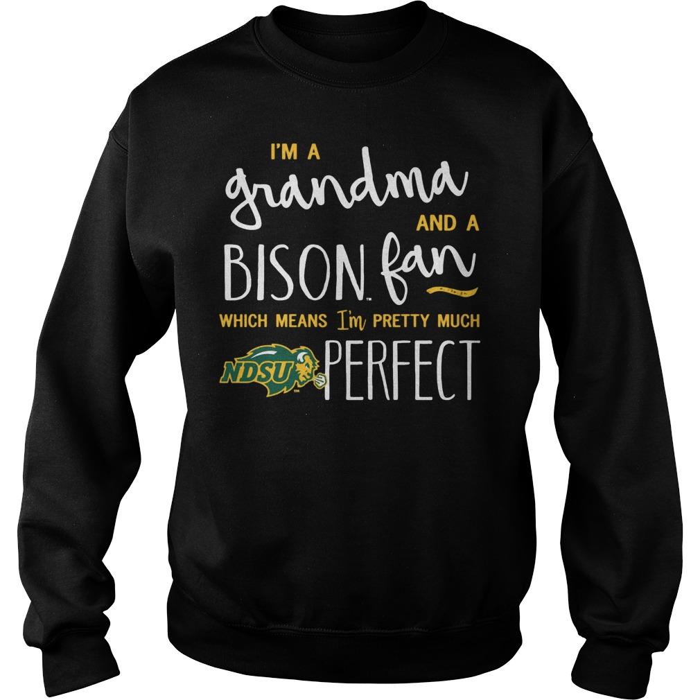 Perfect Grandma North Dakota State Bison Fan Sweater