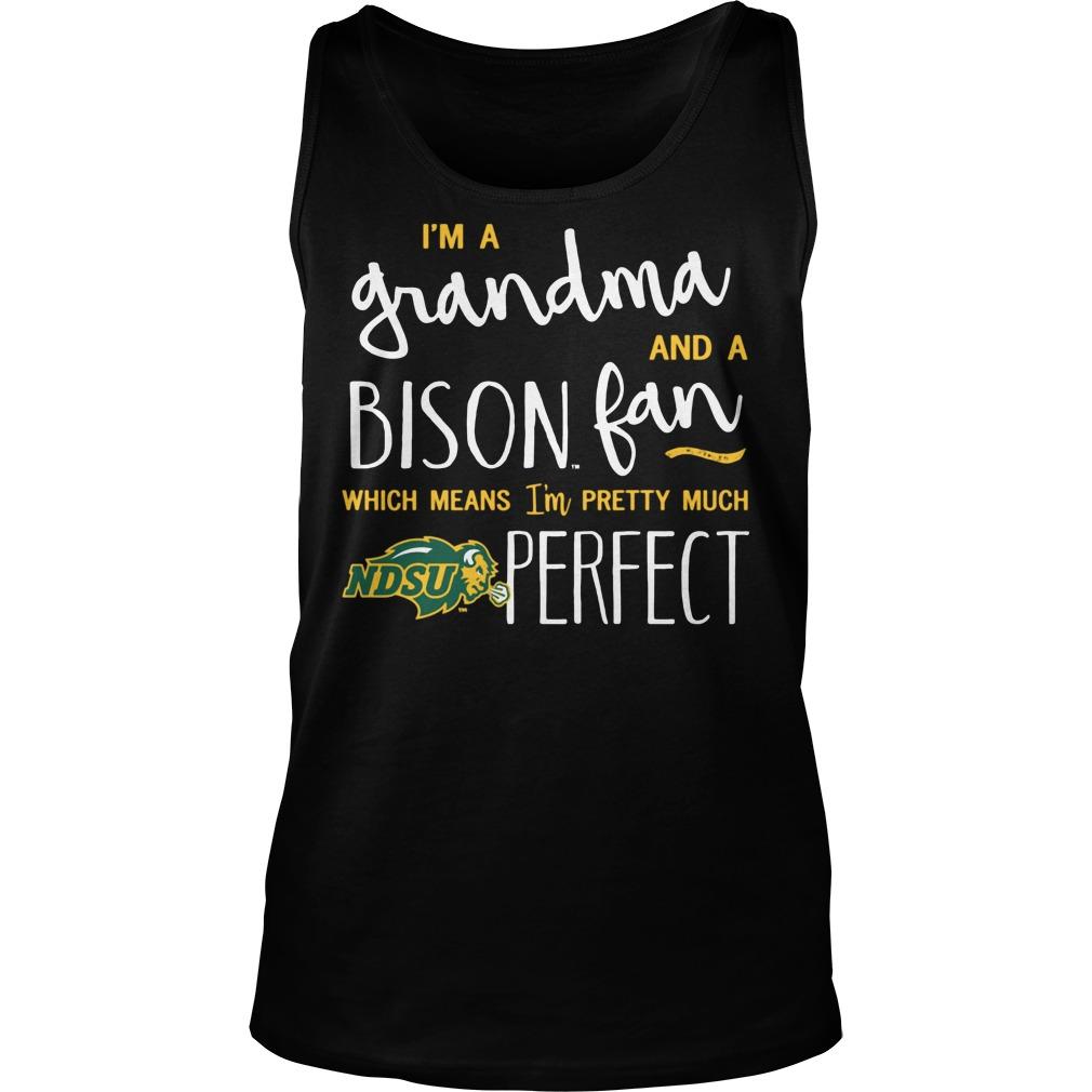 Perfect Grandma North Dakota State Bison Fan Tanktop