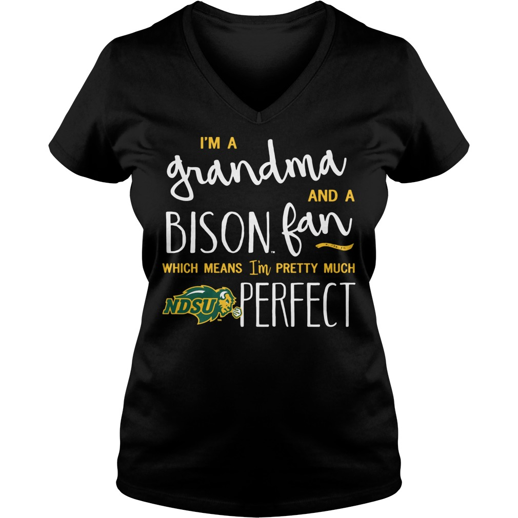 Perfect Grandma North Dakota State Bison Fan V Neck