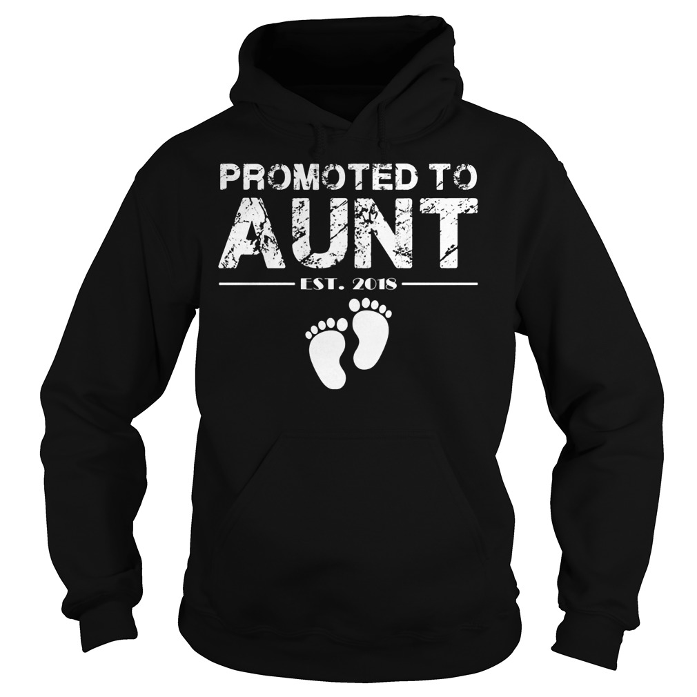 Promoted To Aunt Est 2018 Hoodie
