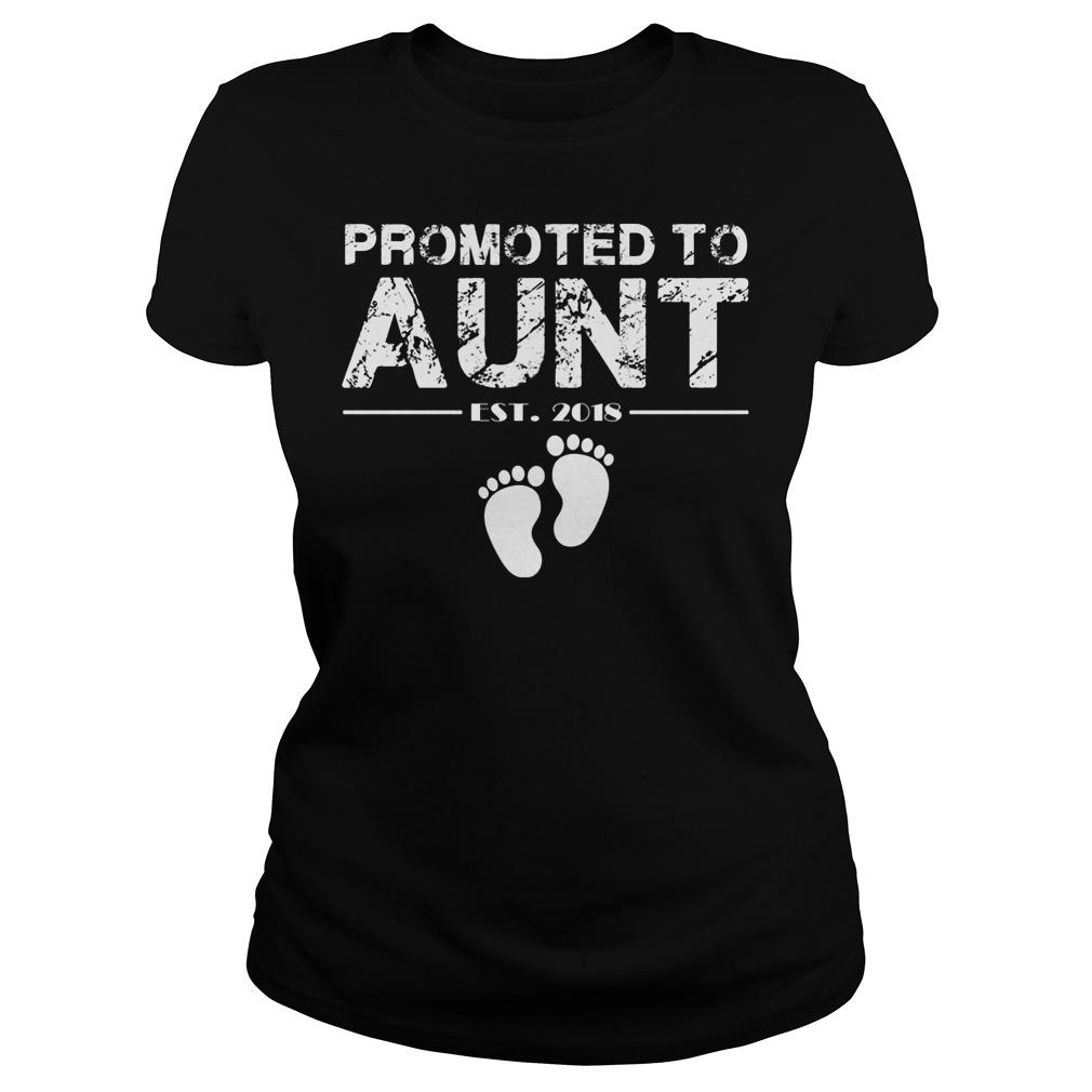 Promoted To Aunt Est 2018 Ladies
