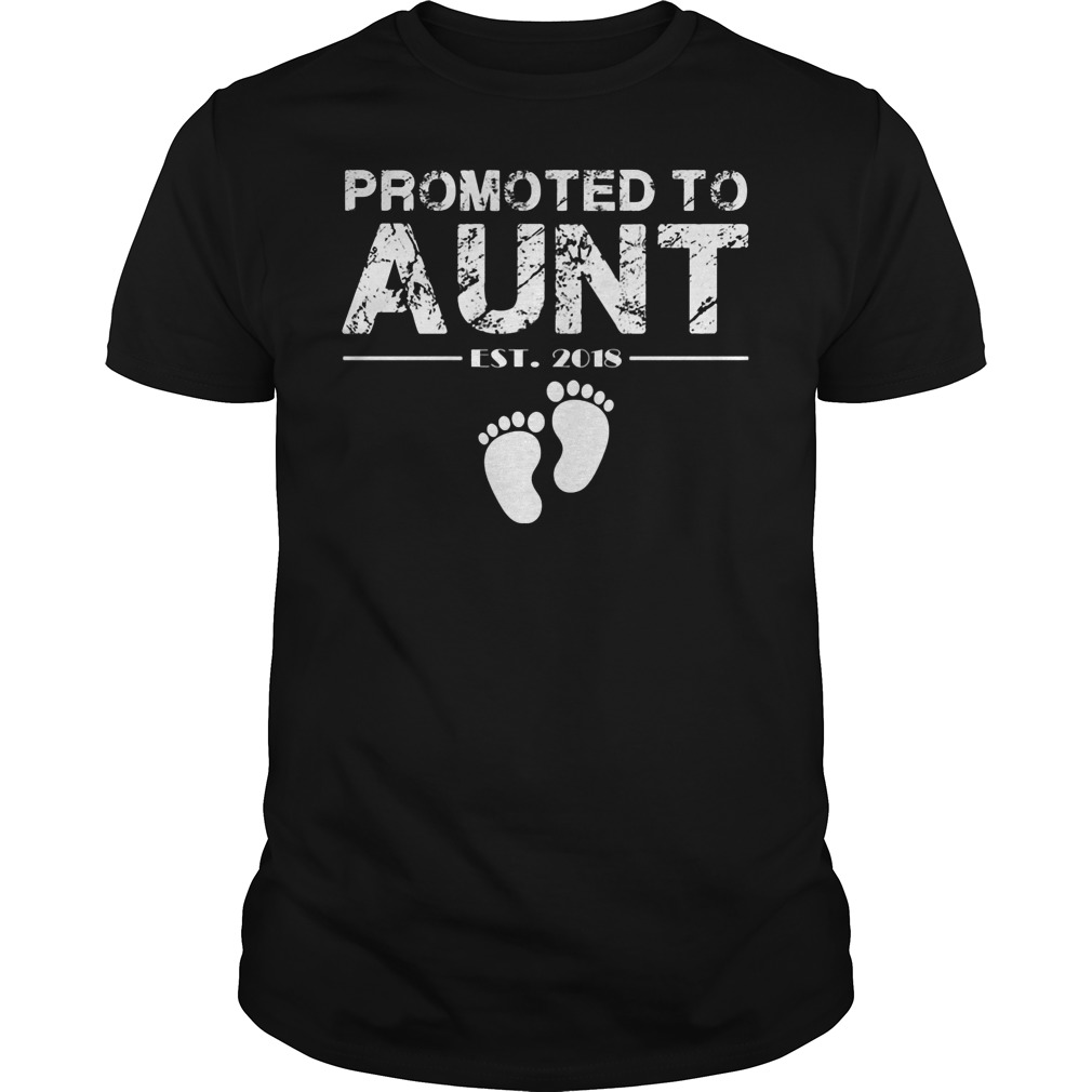 Promoted To Aunt Est 2018 Shirt