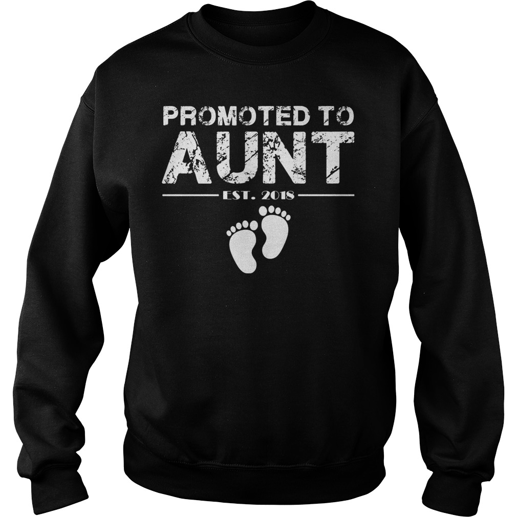 Promoted To Aunt Est 2018 Sweater