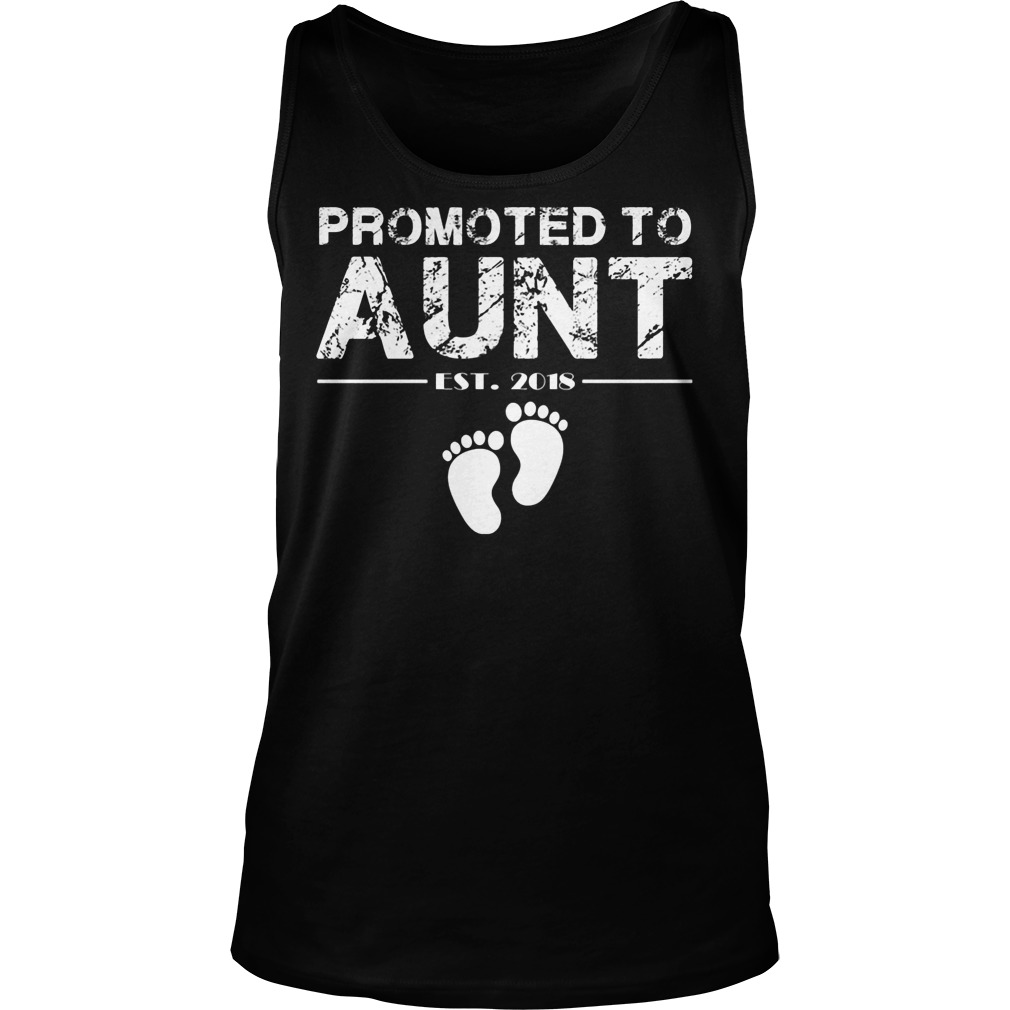 Promoted To Aunt Est 2018 Tanktop