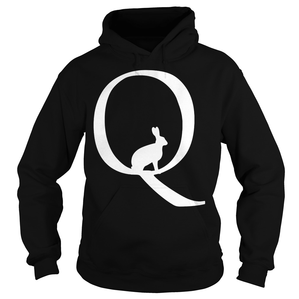 Qanon Deep State Political Trump White Rabbit Hoodie