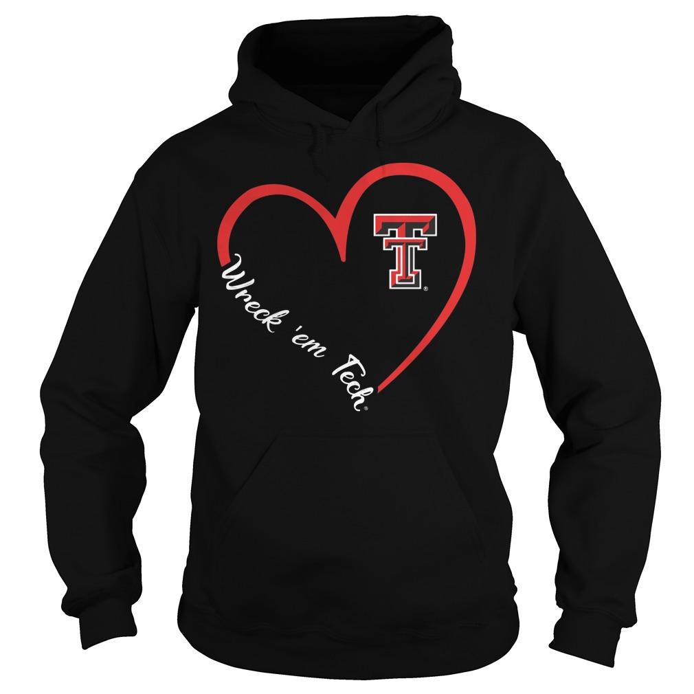 Texas Tech Red Raiders Heart 34 Wreck Em Tech Hoodie