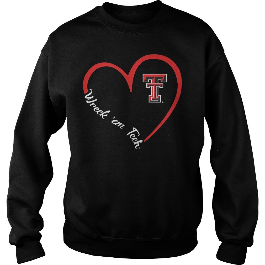Texas Tech Red Raiders Heart 34 Wreck Em Tech Sweater