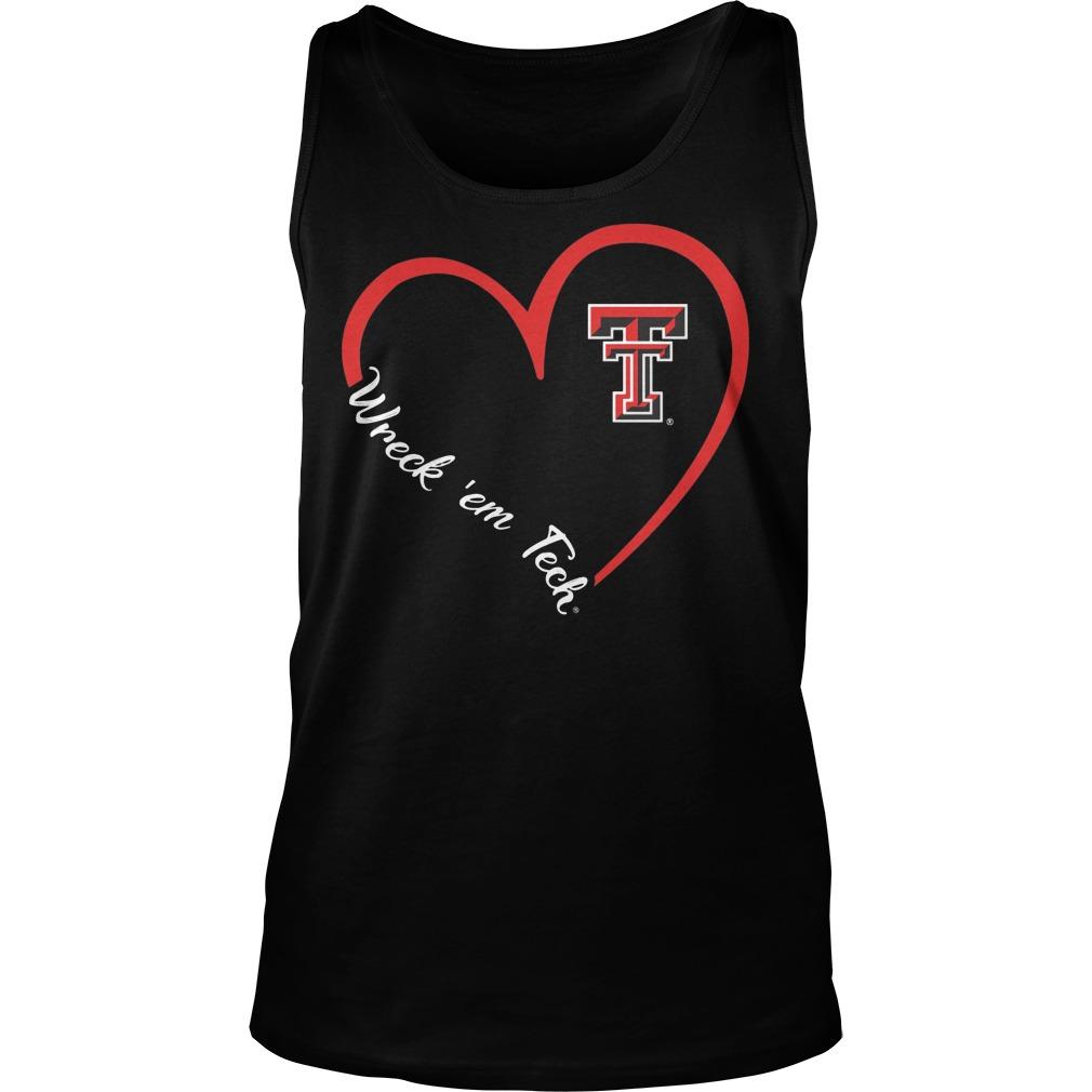 Texas Tech Red Raiders Heart 34 Wreck Em Tech Tanktop
