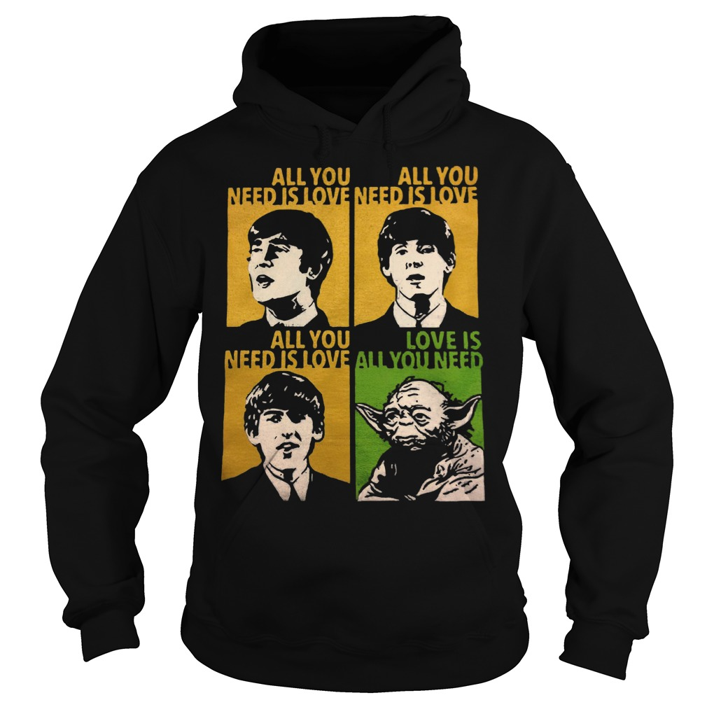 All You Need Is Love Beatles Yoda Hoodie