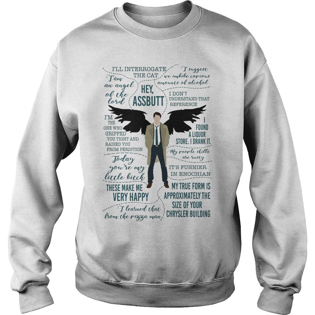 Castiel Supernatural Ill Interrogate The Cat Hey Assbutt Sweater