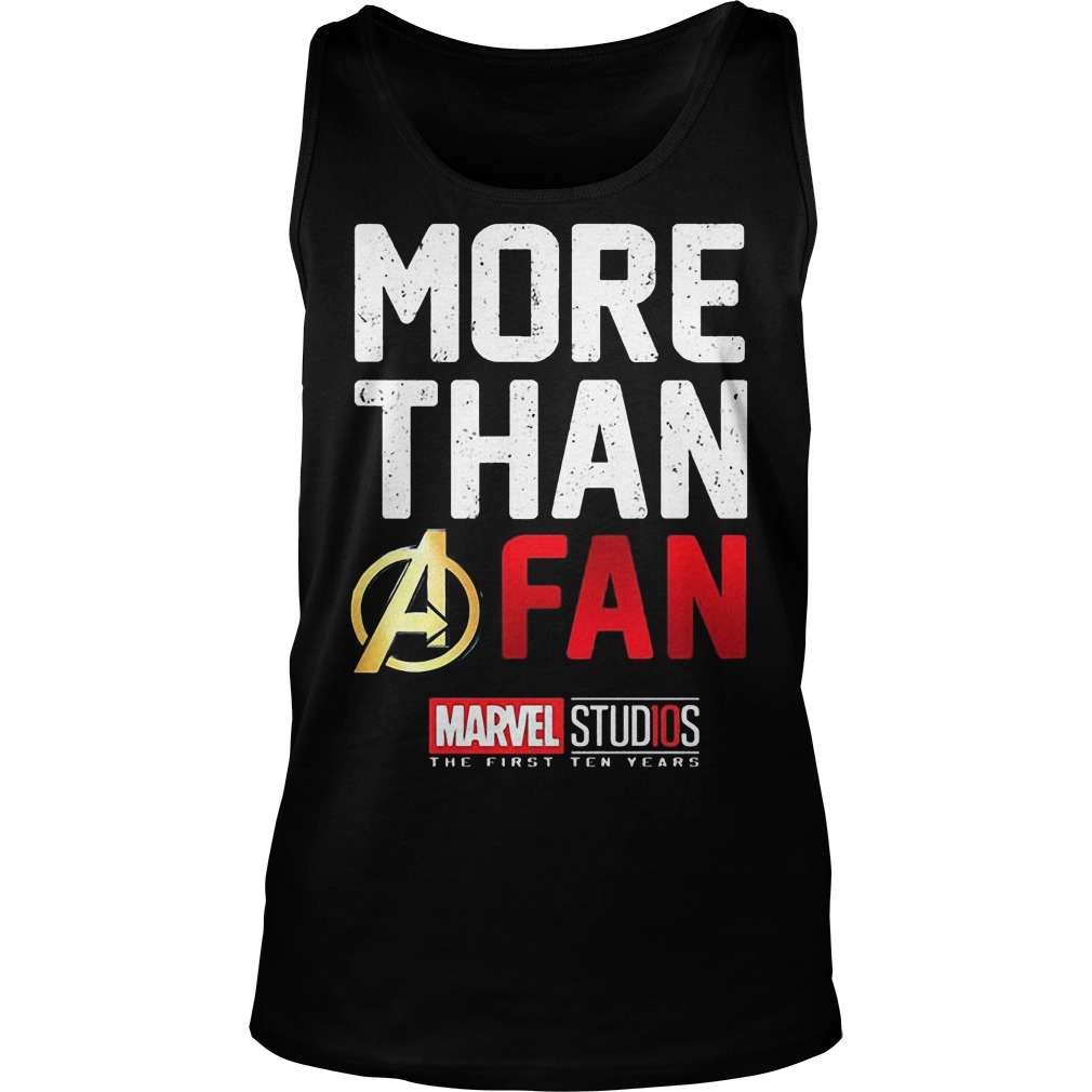 More Than A Fan Marvel Studios Tanktop