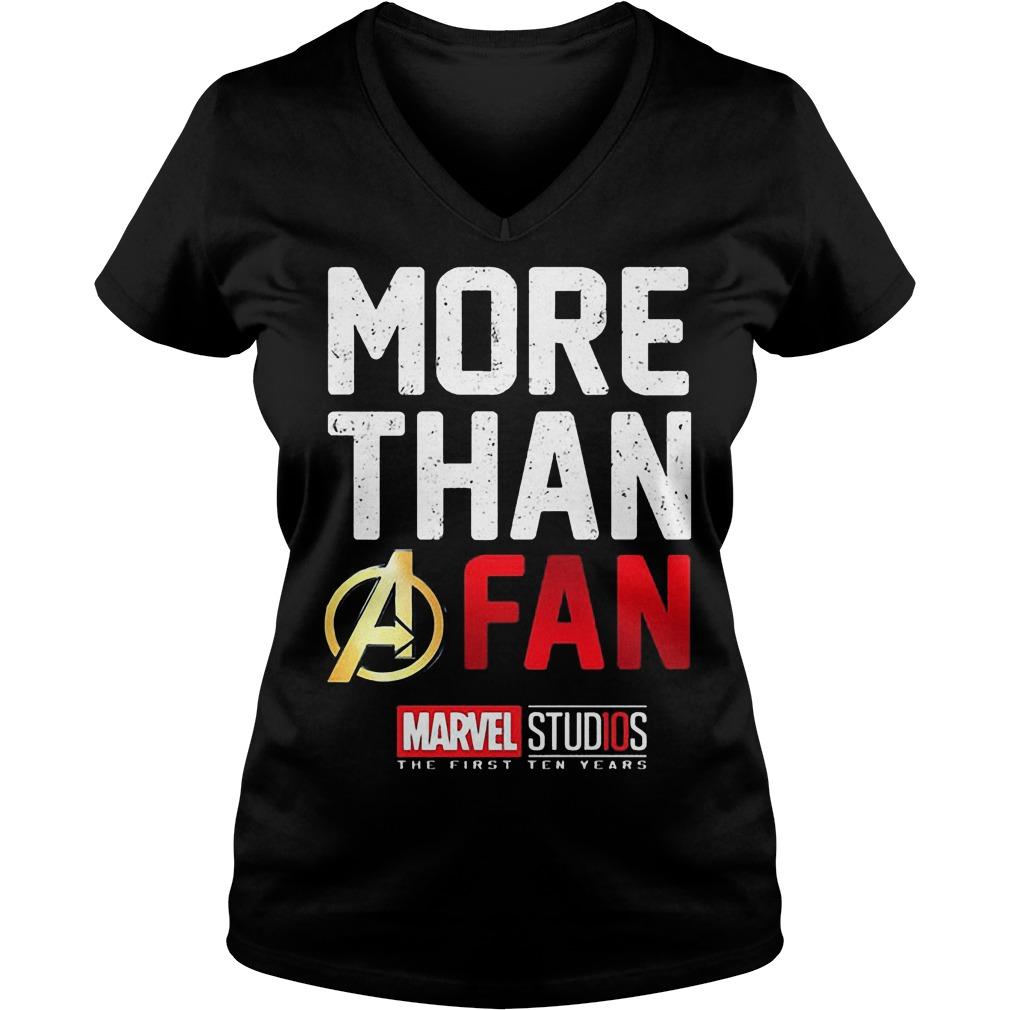 More Than A Fan Marvel Studios V Neck