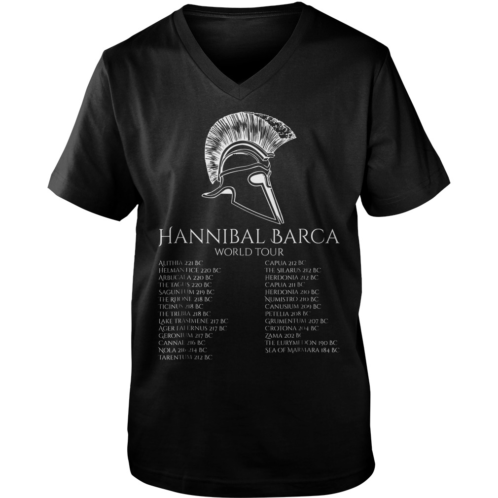 Hannibal Barca World Tour History T-Shirt Guys V-Neck