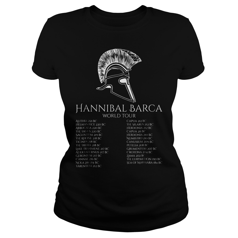 Hannibal Barca World Tour History T-Shirt Ladies Tee