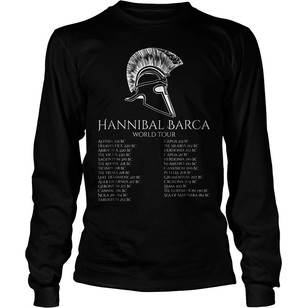 Hannibal Barca World Tour History T-Shirt Unisex Longsleeve Tee