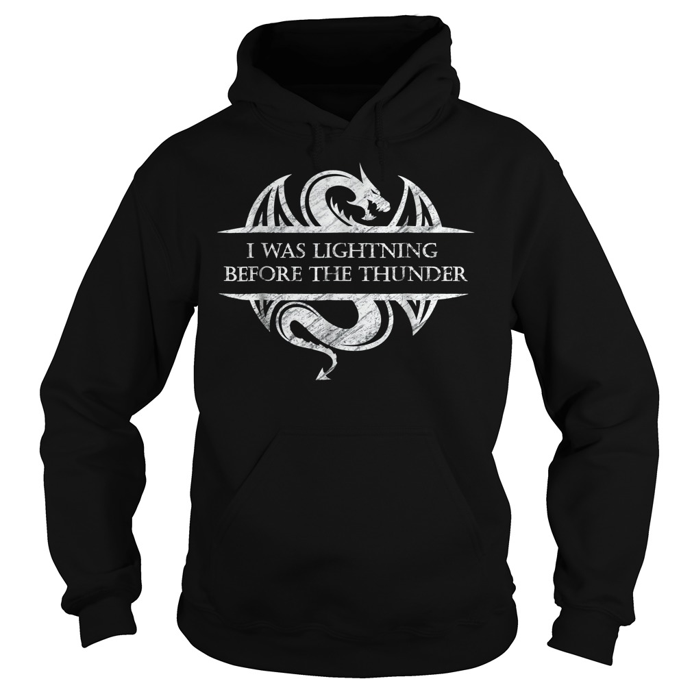 I Was Lightning Before The Thunder White Dragon Hoodie