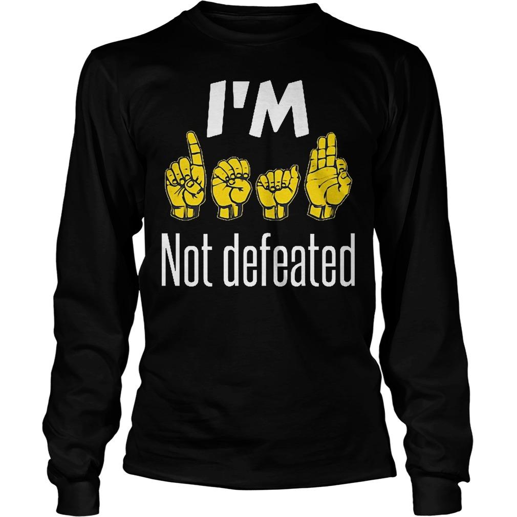I'm Sign Language No Defeated Longsleeve