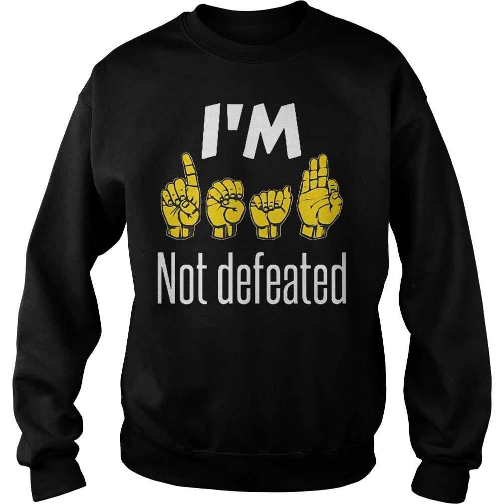 I'm Sign Language No Defeated Sweater
