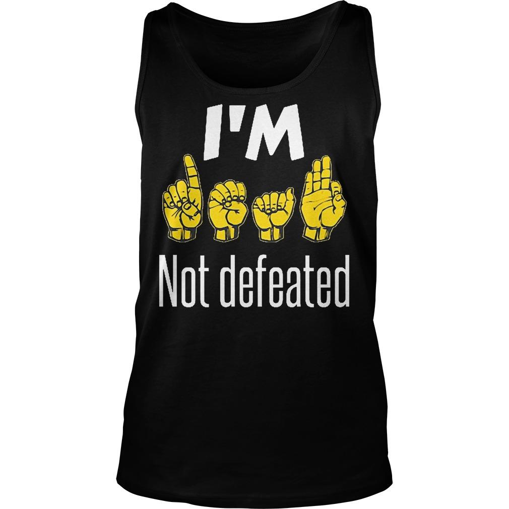 I'm Sign Language No Defeated Tanktop