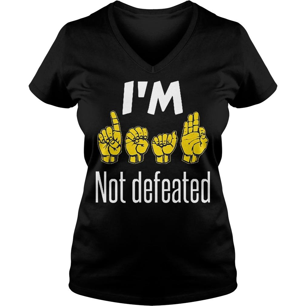 I'm Sign Language No Defeated V Neck