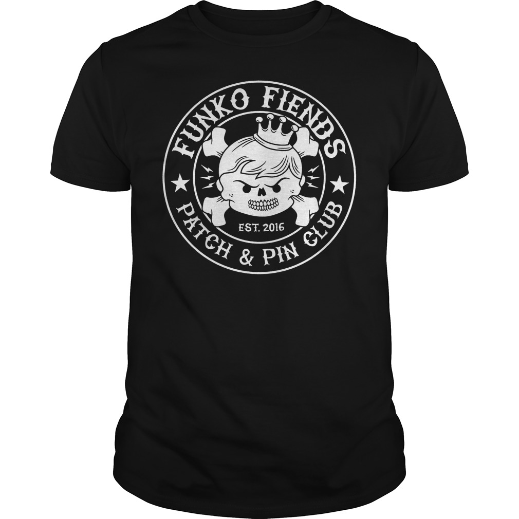 Funko Fiends Patch And Pin Club Est 2016 T-Shirt Classic Guys / Unisex Tee