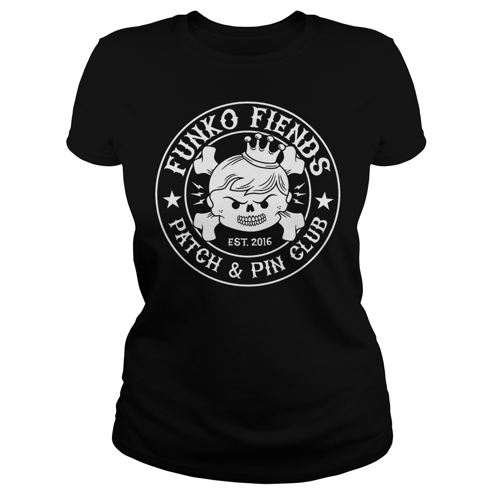 Funko Fiends Patch And Pin Club Est 2016 T-Shirt Classic Ladies Tee