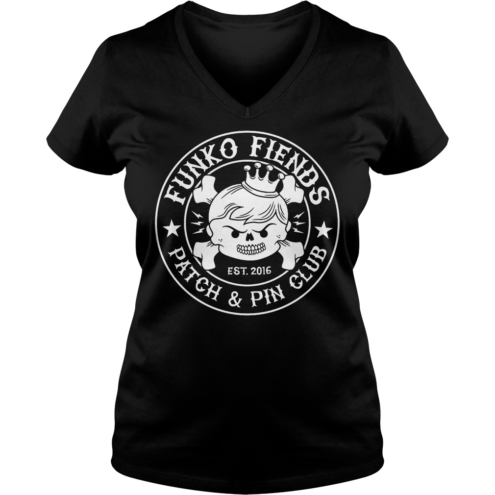 Funko Fiends Patch And Pin Club Est 2016 T-Shirt Ladies V-Neck