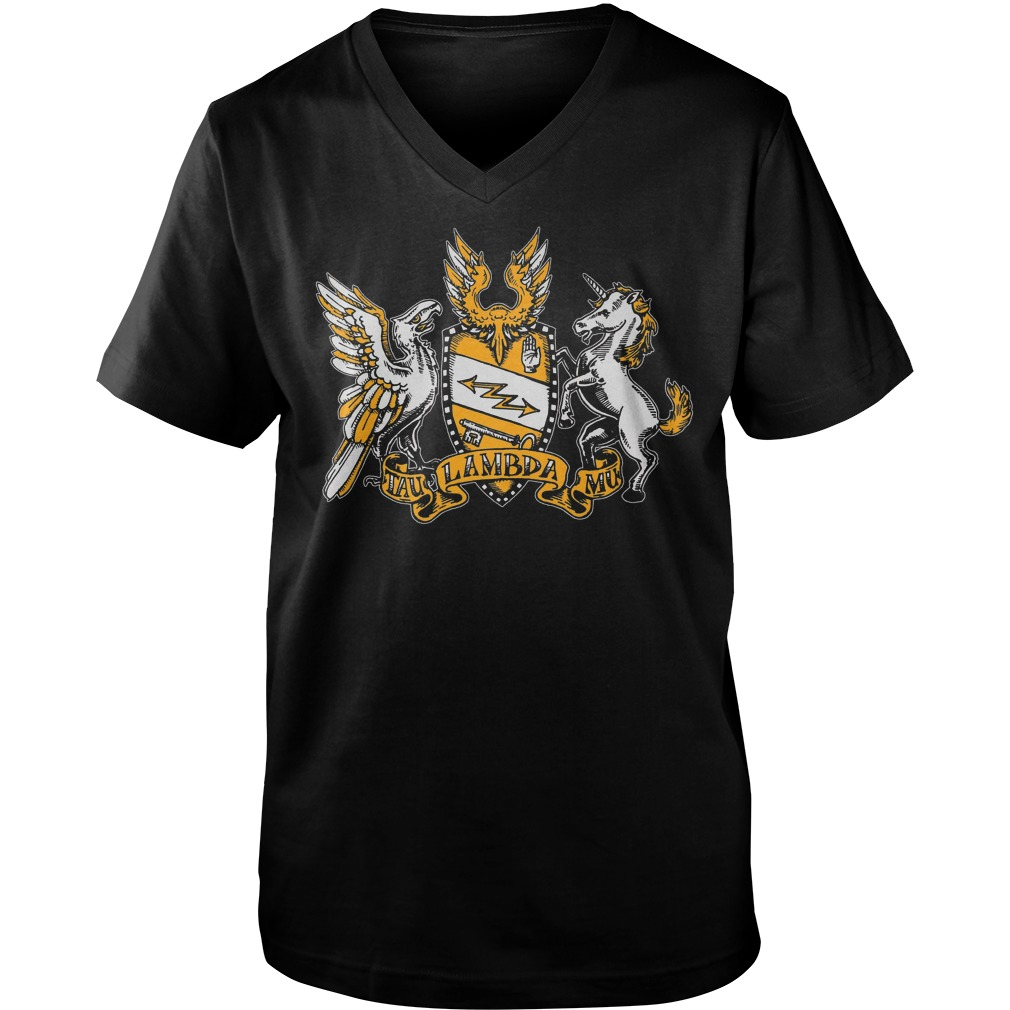 Official Tau Lambda Mu - Tam Crest T-Shirt Guys V-Neck
