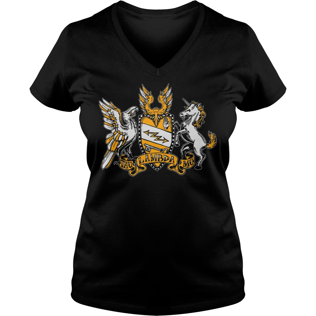 Official Tau Lambda Mu - Tam Crest T-Shirt Ladies V-Neck