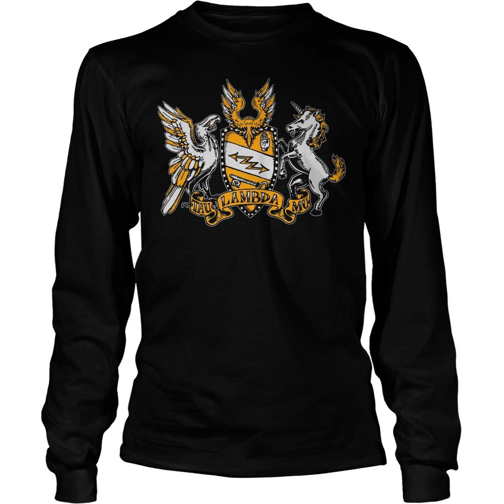 Official Tau Lambda Mu - Tam Crest T-Shirt Longsleeve Tee Unisex
