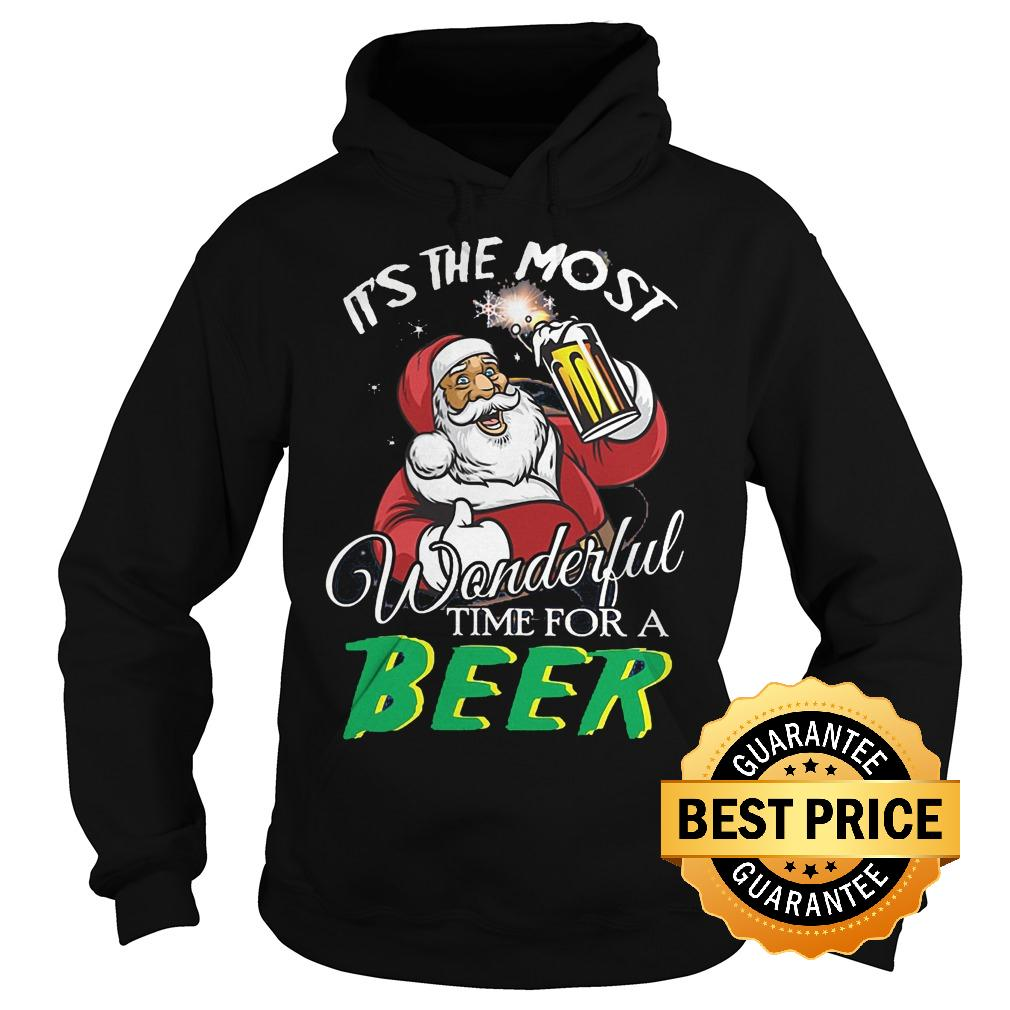 Best Price Santa Claus It's the most wonderful time for a beer Shirt Hoodie