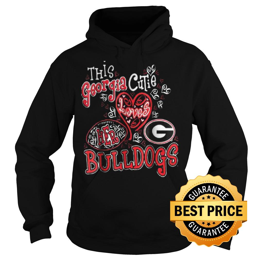 Best Price This georgia cutie loves her bulldogs Shirt Hoodie