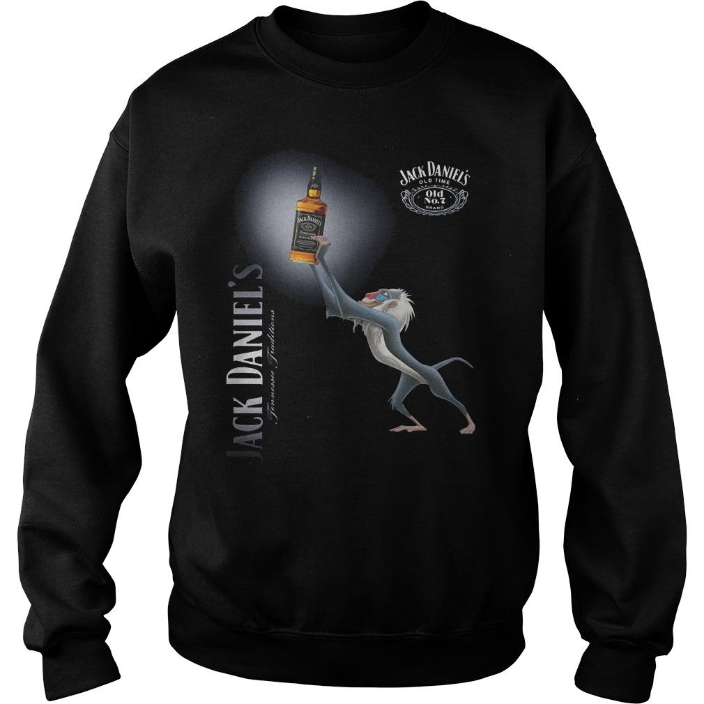 Official Rafiki Jack Daniel's Whiskey Shirt Sweatshirt Unisex