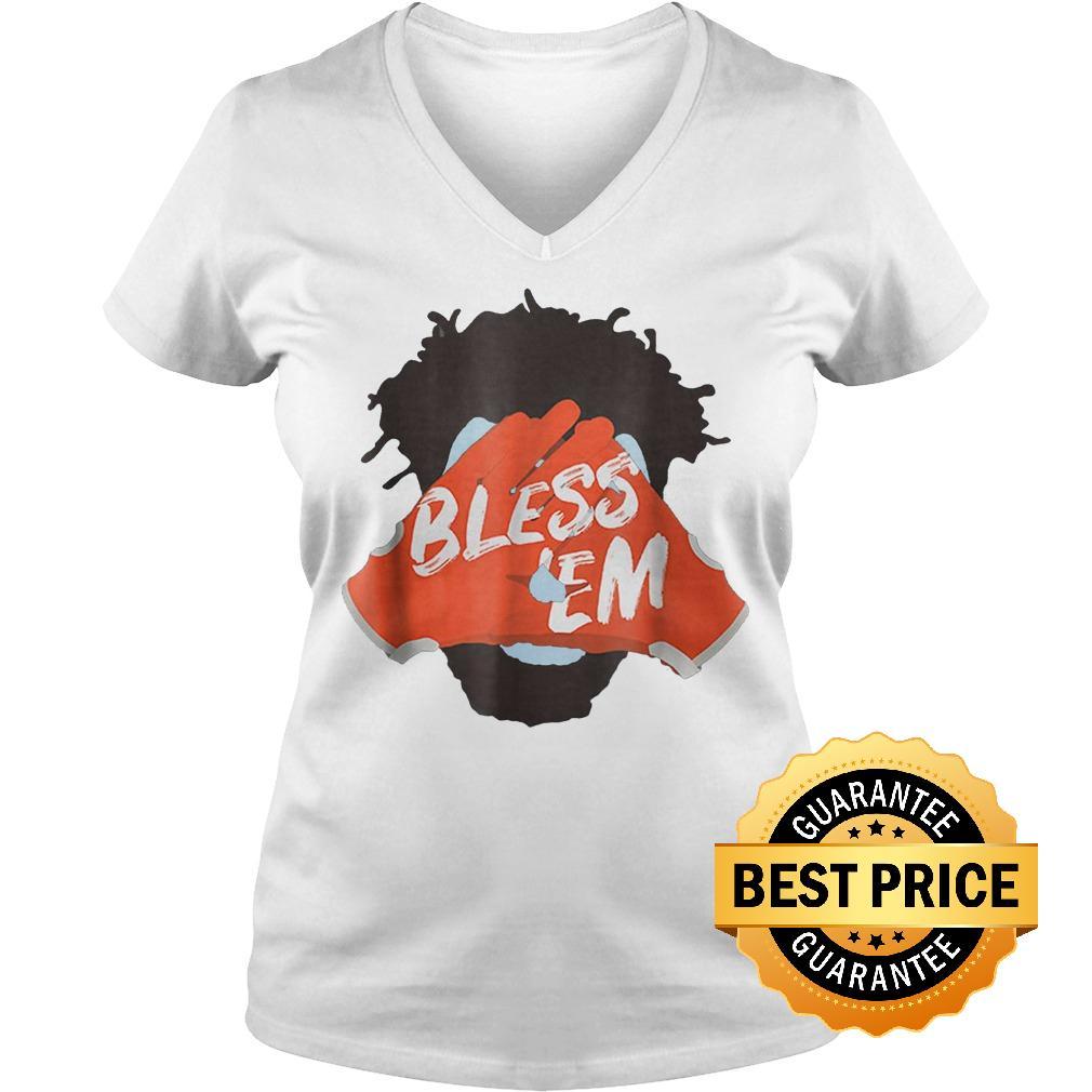 Original Browns Football Bless Em Shirt Ladies V-Neck