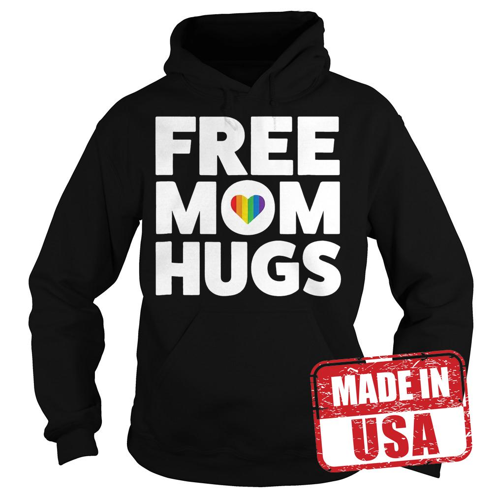 Original Free Mom Hugs Rainbow Heart shirt Hoodie