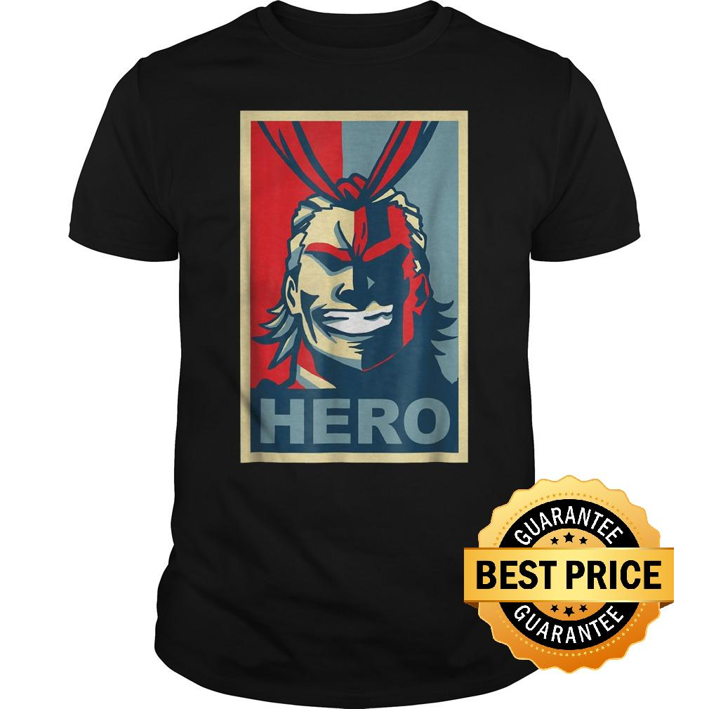 Original My Heroes Academia Art All Might Anime Shirt