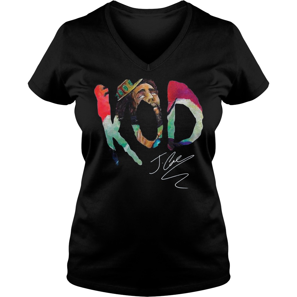 Premium Kod J Cole Signed Autograph shirt Ladies V-Neck