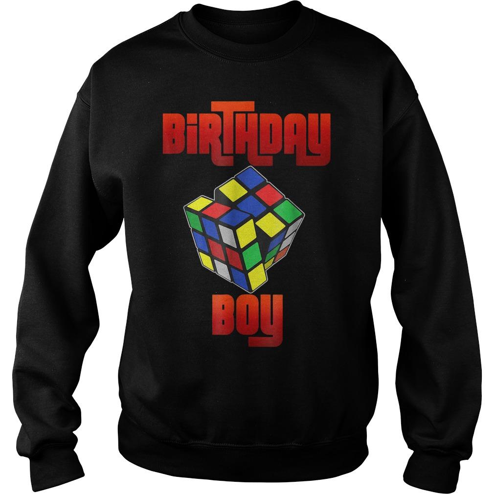 Rubik Cube Birthday Boy Shirt Sweatshirt Unisex