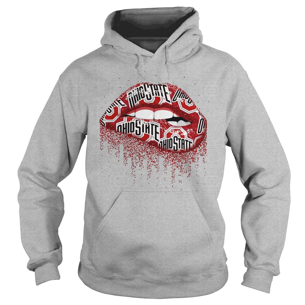 Buckeyes Ohio State Lip Bite Shirt, hoodie, sweater, sweatshirt