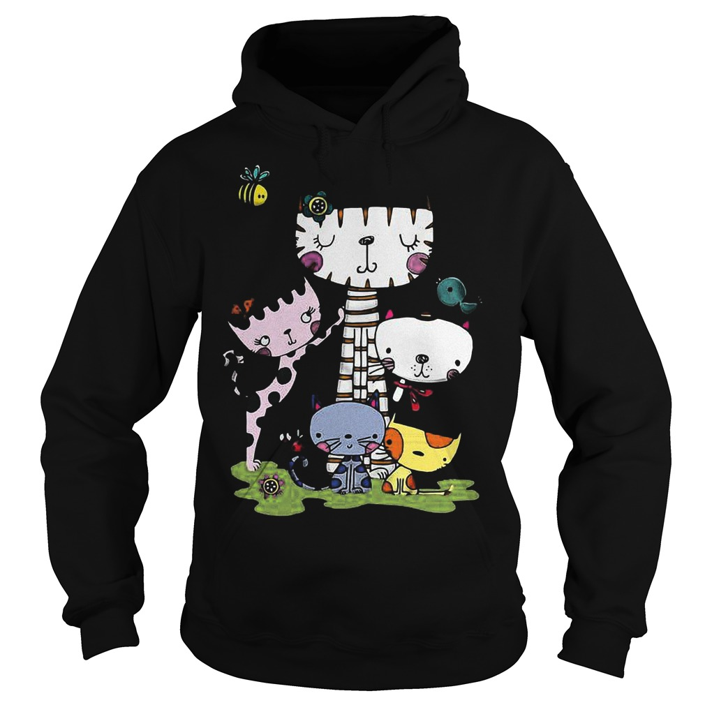 Cute cartoon cat squad and bee Shirt Hoodie