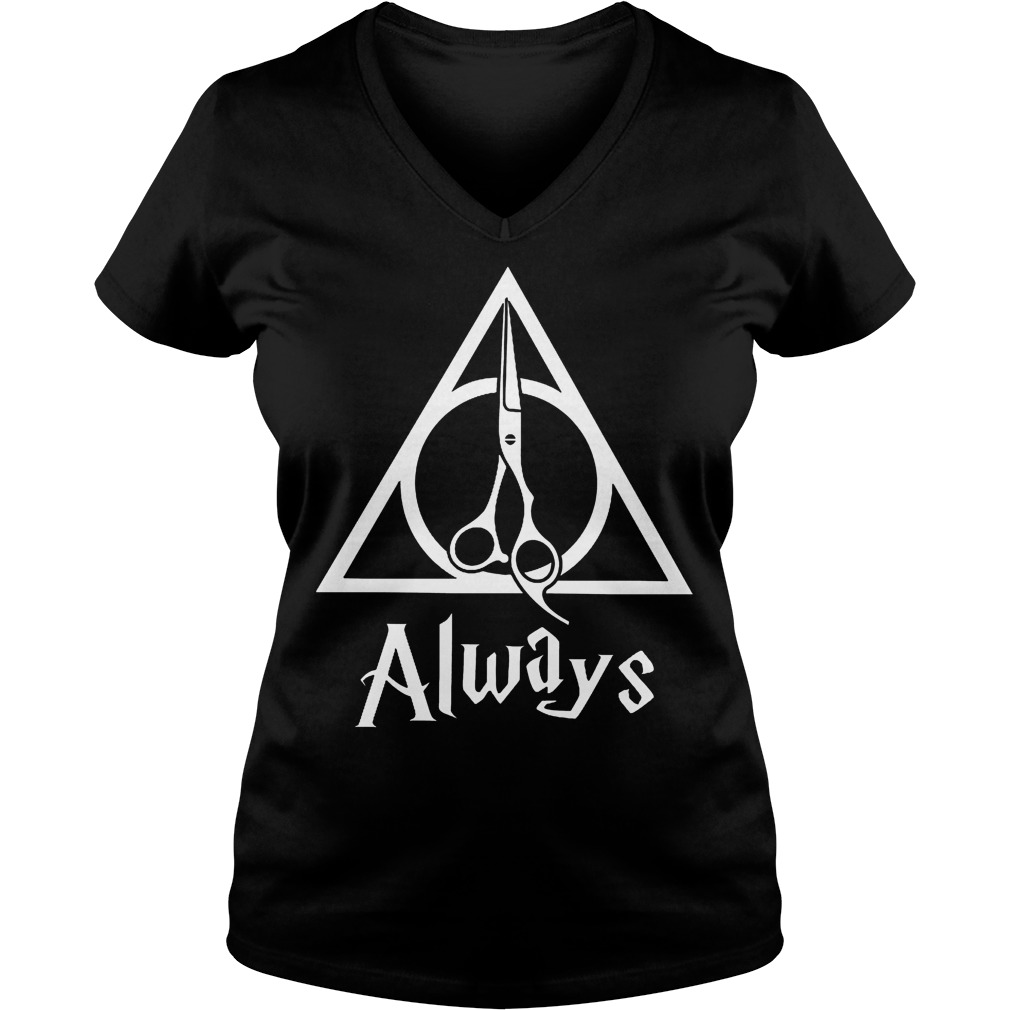 Hairstylist always Harry Potter Deathly Hallows shirt Ladies V-Neck